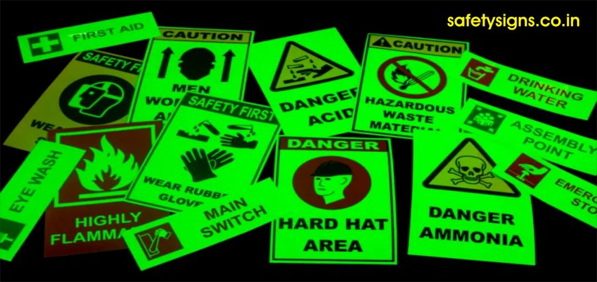 night glow safety signs